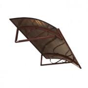 Vchodová stříška Robelit Arco, 1500x900x250mm barva: hnědý rám, kouřová výplň