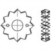 TOOLCRAFT priključci za drvo DIN 1052 pocinčani čelični lim 100 komada