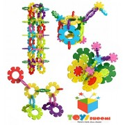 Toys Bhoomi Build Your Own Super Fun Huge Sized Snowflakes Activity Building Blocks - 56 Piece