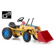 Traktor G21 CLASSIC rakodóval - sárga/kék
