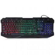 Клавиатура Fantech K10, гейминг, хроматични ефекти, черна, USB