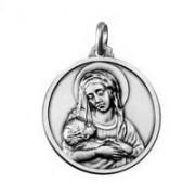 medaglia madonna della divina provvidenza in argento 18 mm