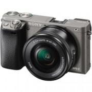 Sony Alpha A6000 kit PZ 16-50mm f/3.5-5.6 OSS - aparat foto mirrorless cu Wi-Fi si NFC, Gri
