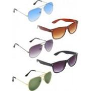 Zyaden Aviator, Aviator, Aviator, Wayfarer, Wayfarer Sunglasses(Blue, Black, Green, Brown, Black)
