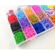 LOGGAS Loom Band Kit with 4200 Colourful Rubber Bands for Making Bracelets, Key Chains, Necklaces & Many Other Things