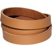 Leatherite Slim Brown Color Wrist Band Multiple Wraps Ruff N Tuff Boys/Mens/Gents Bracelet Cuff Design