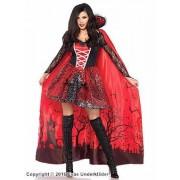 Vampyrklänning med kuslig cape, maskeradkostym