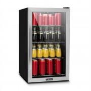 Klarstein Beersafe 4XL, хладилник, за напитки, 124l, 0-10°C, стъкло, A+, неръждаема стомана (TK15- Beersafe-4XL)