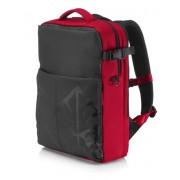 """HP OMEN borsa per notebook 43,9 cm (17.3"""") Zaino Nero, Rosso"""