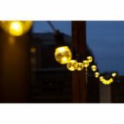 Ghirlanda Luminoasa 5M cu 10 LEDuri Clare Cablu Negru Lumina Calda Naturala conectabila 30M de Exterior