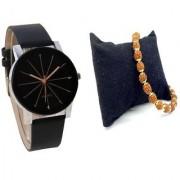 IIK Men Professional With Rudraksh Bracelet Best Designing Stylist Looking Analog Watch For Men / boys