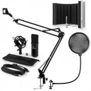 Auna CM001B set de micrófono V5 micrófono condensador brazo de micrófono protección anti pop negro (60002013-V5)