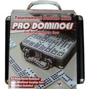 Pro Dominoes Tournament Double Nine In Aluminum Case