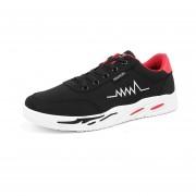 Zapatos Para Correr Fashion-Cool Para Hombre-Negro Y Rojo
