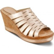 SOLE HEAD Women Rose Gold Wedges