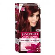 Vopsea de par permanenta cu amoniac Garnier Color Sensation cu pigmenti intensi 4.6 Rosu Inchis Intens