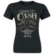 Johnny Cash Rock 'n' Roll Damen-T-Shirt - Offizielles Merchandise S, M, L, XL Damen