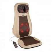 Niuwe Almofada de Massagem Eléctrica Shiatsu 3 Zonas de Massagem Castanho
