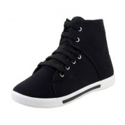 World WEAR Mens Black Lace-up Sneakers