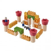Recycled Wood 35 Piece Castle Themed Block Set By Plan Toys