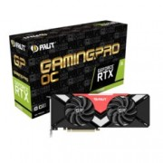 Видео карта Nvidia GeForce RTX 2080, 8GB, Palit RTX 2080 GamingPro OC, PCI-E 3.0, GDDR6, 256 bit, 3x Display Port, 1x HDMI, 1x USB Type C, Real Time Ray Tracing технология, RGB подсветка
