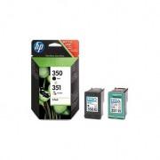 HP Pack de ahorro de 2 cartuchos de tinta original 350 negro/351 tricolor