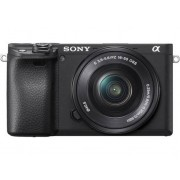 Sony Cámara Mirrorless SONY A6400 + 16-50 MM Negro (24,2 MP - Sensor: APS-C - ISO: 100-32000)