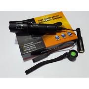 Мощен акумулаторен LED T6 фенер CREE LED Police 80000W със спусък