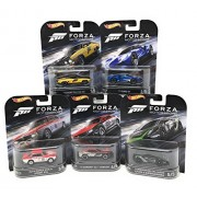 Hot Wheels FORZA Motorsport Set of 5 Cars, 73 Ford Falcon XB, 17 FORD GT, Alfa Romeo Giulia Sprint GTA, 12 Camaro ZL1 Concept, and Lamborghini Gallardo LP 570-4 Superleggera Bundle