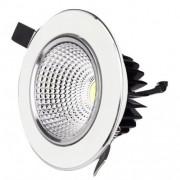 Spot LED 10W Rotund Mobil Alb-Argintiu