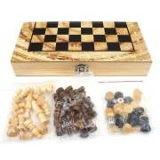 Настольная игра 3 в 1 Шахматы, шашки, нарды, поле 34 х 34 см. W3418-4