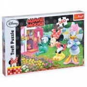 Puzzle Trefl Minnie Mouse in gradina 160 piese