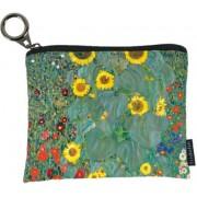 FRI.19247 Mini pénztárca textil,12x1,5x10cm Klimt: Kert napraforgókkal