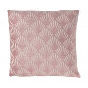 Xenos Kussen chenille - roze - 45x45 cm
