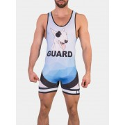 Barcode Berlin Wild Guard Singlet Bodysuit Blue/Black/White 91474-417