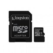 KINGSTON 16GB CANVAS MICRO SDHC 80R CL10 UHS-I + SD ADAP.