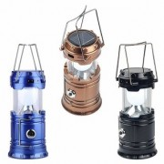 Snap LED Solar Rechargeable Camp Torch Light Flashlights Emergency Lamp Camping Light In Best Price (Set of 3)