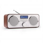 Auna Georgia DAB-rádio, DAB+, FM, предварително настроени радио станции, будилник, AUX, череша (KC6-Georgia-W)