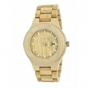 Earth Wood Cherokee Bracelet Watch w/Magnified Date - Khaki/Tan ETHEW3401