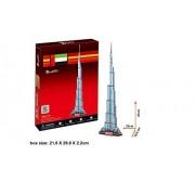 """Qiyun 3 D Puzzle C Series """"Burj Khalifa Dubai"""" For Cubic Fun"""