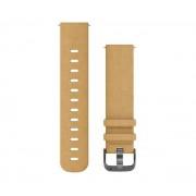 Garmin Skórzany pasek do zegarka Forerunner 645/Vivoactive 3/Vivomove HR (jasnobrązowy)