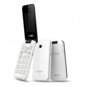 """Alcatel 2051D 2.4"""" Nero, Bianco Telefono per anziani"""