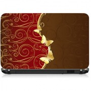 VI Collections Gold Butterfly Printed Vinyl Laptop Decal 15.5
