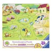 Моят първи пъзел Ravensburger 9 части - Ферма, 7003683