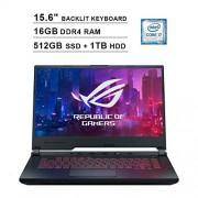 Asus 2020 ROG G531GT 15.6 Inch FHD Gaming Laptop (9th Gen Intel 6-Core i7-9750H up to 4.50 GHz, 16GB DDR4 RAM, 512GB SSD + 1TB HDD, NVIDIA GeForce GTX 1650, RGB Backlit Keyboard, Windows 10) (Black)