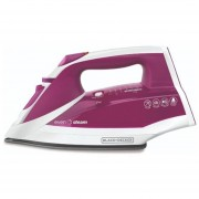 Plancha antiadherente vapor vertical Black & Decker modelo IR2011 rosa