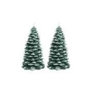 Bellatio Decorations Kerstboom kaars 2 stuks 23 cm