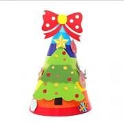 ZAAQ 5 Piezas de Papel Hecho a Mano Creativo Santa Claus muñeco de Nieve Sombrero de Navidad Sombreros de Fiesta niños Fiesta Favor Navidad