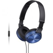 HEADPHONES, SONY MDR-ZX310AP, Microphone, Blue (MDRZX310APL.CE7)
