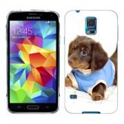 Husa Samsung Galaxy S5 Mini G800F Silicon Gel Tpu Model Brown Puppy